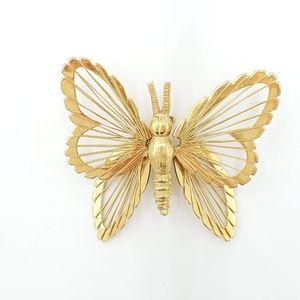 Jewelry - Golden Butterfly Brooch